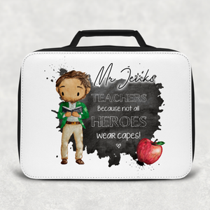 Teacher Superhero Personalised Insulated Lunch Bag