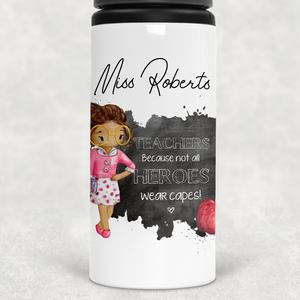 Teacher Thank You Personalised Straw Water Bottle 650ml