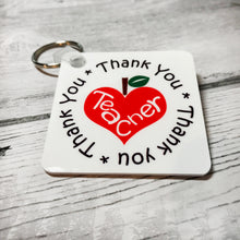 Teacher Keyring Gift with optional image or QR code