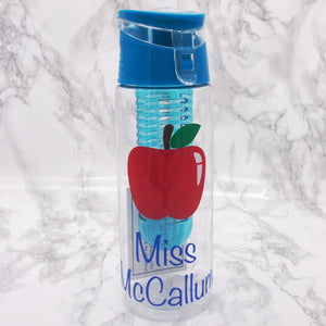 Personalised Teacher 700ml Adult Fruit Infuser Water Bottle | Teacher End of School Gift