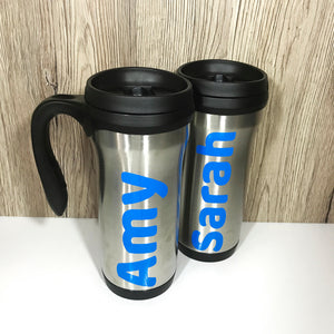 Personalised Travel Mug - Bottles - Molly Dolly Crafts
