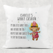 Troll Worry Comfort Cushion Linen White Canvas