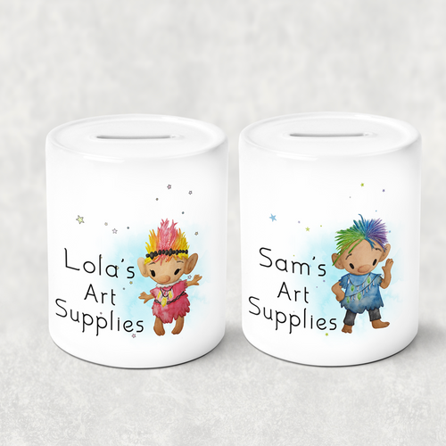 Troll Personalised Money Saving Pot