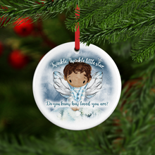 Twinkle Do You Know How Loved You Are Personalised Ceramic Round Christmas Bauble