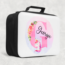 Unicorn Alphabet Insulated Lunch Bag