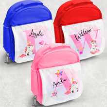 Unicorn Alphabet Personalised Kids Insulated Lunch Bag