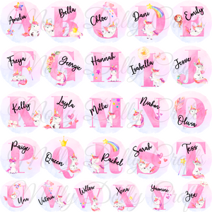 Unicorn Alphabet Personalised School Pencil Tin
