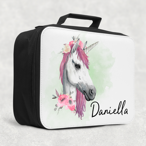 Unicorn Watercolour Personalised Insulated Lunch Bag