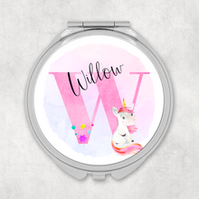 Unicorn Alphabet Compact Pocket Mirror