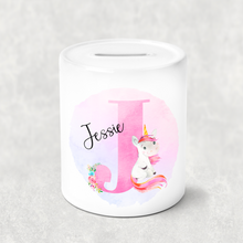 Unicorn Alphabet Money Pot