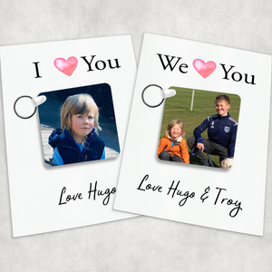 We/I Love You Hug Isolation Comfort Photo Keyring