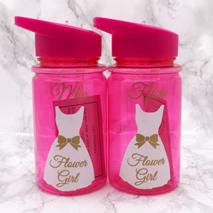 500ml Kids Wedding Role Outfit Water Bottle | Flower Girl Bottle | Page Boy Bottle - Bottles - Molly Dolly Crafts