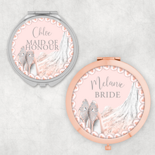 Wedding Role Dress and Shoes Personalised Wedding Compact Mirror