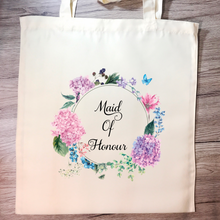 Maid Of Honour Floral Wreath Wedding Tote Bag