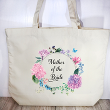 Mother of the Bride Floral Wreath Wedding Tote Bag - Tote Bag - Molly Dolly Crafts