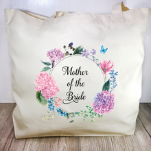 Mother of the Bride Floral Wreath Wedding Tote Bag