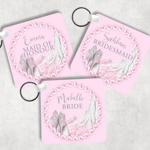 Hen Party Favour Personalised Wedding Role Keyring