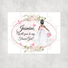 Will you be my Flower Girl, Bridesmaid, Maid of Honour Proposal Jigsaw Various Sizes