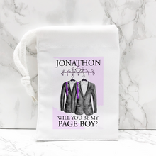 Will you be my Page Boy, Usher, Ring Bearer Proposal Small Drawstring Bag