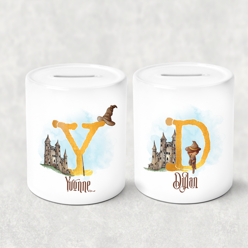 Wizard Alphabet Personalised Money Saving Pot