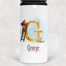 Wizard Alphabet Personalised Straw Water Bottle 650ml