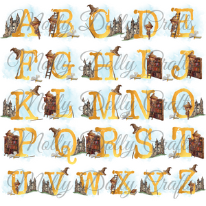 Wizard Alphabet Personalised Keyring Bag Tag