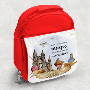 Wizard Believe in Magic Personalised Kids Insulated Lunch Bag