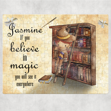 Wizard Bookcase Personalised Jigsaw Various Sizes & Pieces