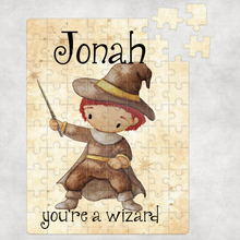 Wizard Wand Personalised Jigsaw Various Sizes & Pieces