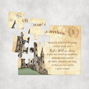 Wizard Letter Personalised Jigsaw Various Sizes & Pieces