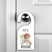 Yellow Fairy Personalised Room Door Hanger