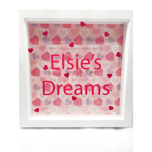 Kids Personalised Pocket Money Box Frame - Money Box Frame - Molly Dolly Crafts