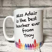 Personalised Best Teacher Gift Mug Mugs