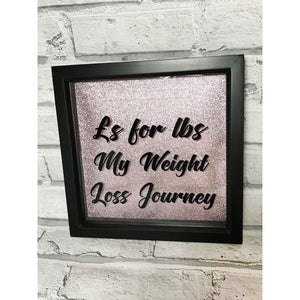 Weight Loss Money Box Frame Black / Aid