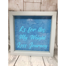 Weight Loss Money Box Frame Blue / Black Aid