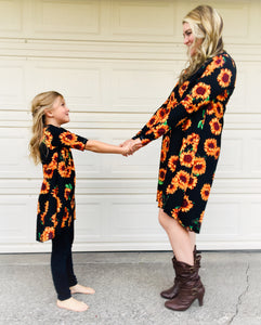Sunflower Infinity Dresses- Mommy & Mini