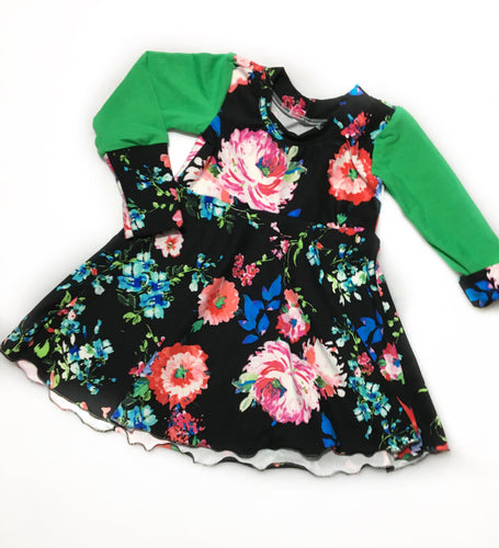3-12M Vibrant Floral Grow with Me Dress