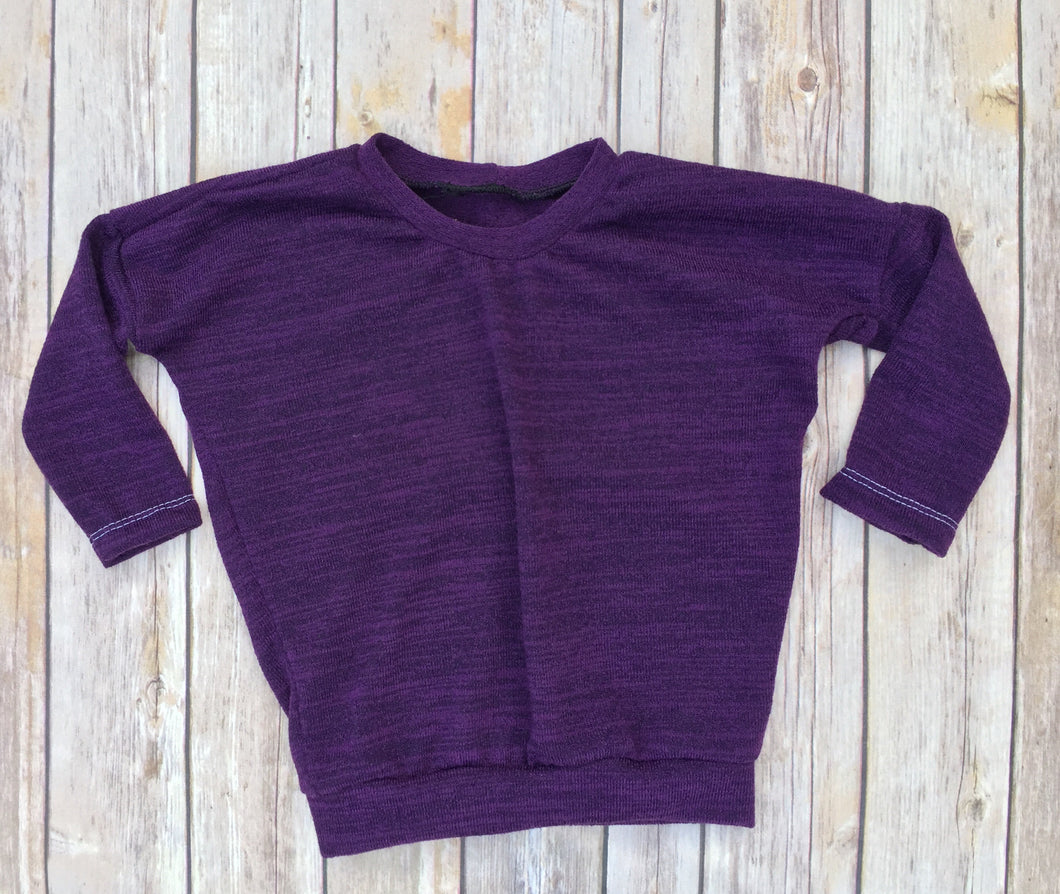 Sugar and Spice, Purple and Black Heathered Top