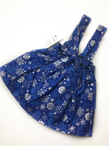 Metallic Snowflake- Child Suspender Skirt