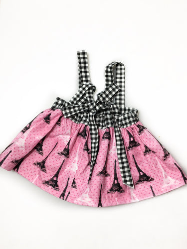 Paris Toddler- Suspender Skirt