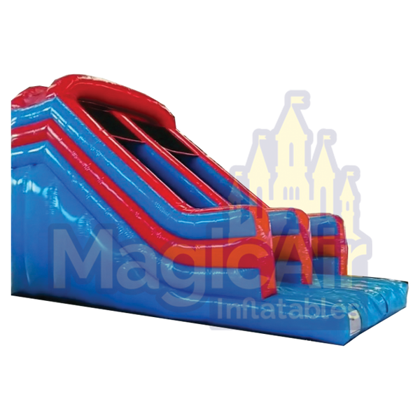 Midi Slide - Red & Light Blue No Artwork - 10ft Platform