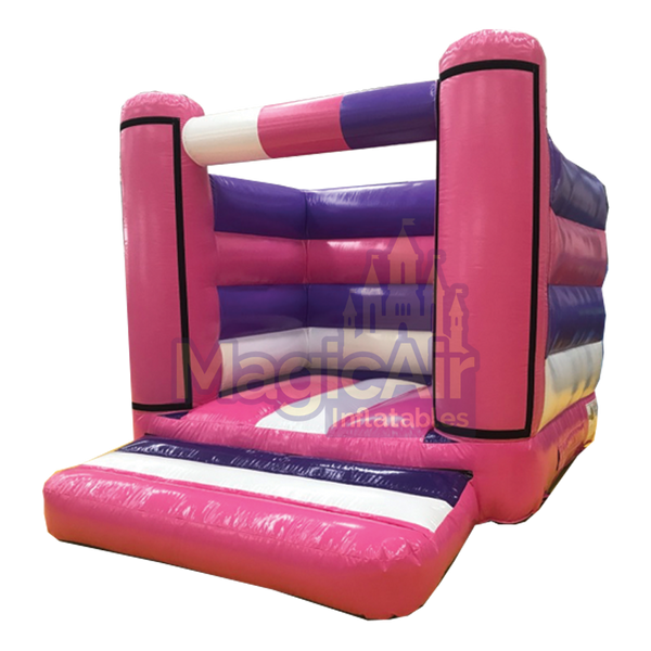Standard Beam Bouncy Castle (Velcro Panels) - Pink / Purple / White