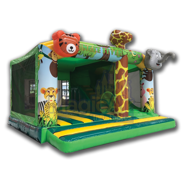 Jungle Adventure Event Bouncy Castle with Slide