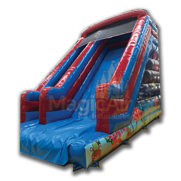 Mega Slide - Undersea Artwork - 13ft Platform
