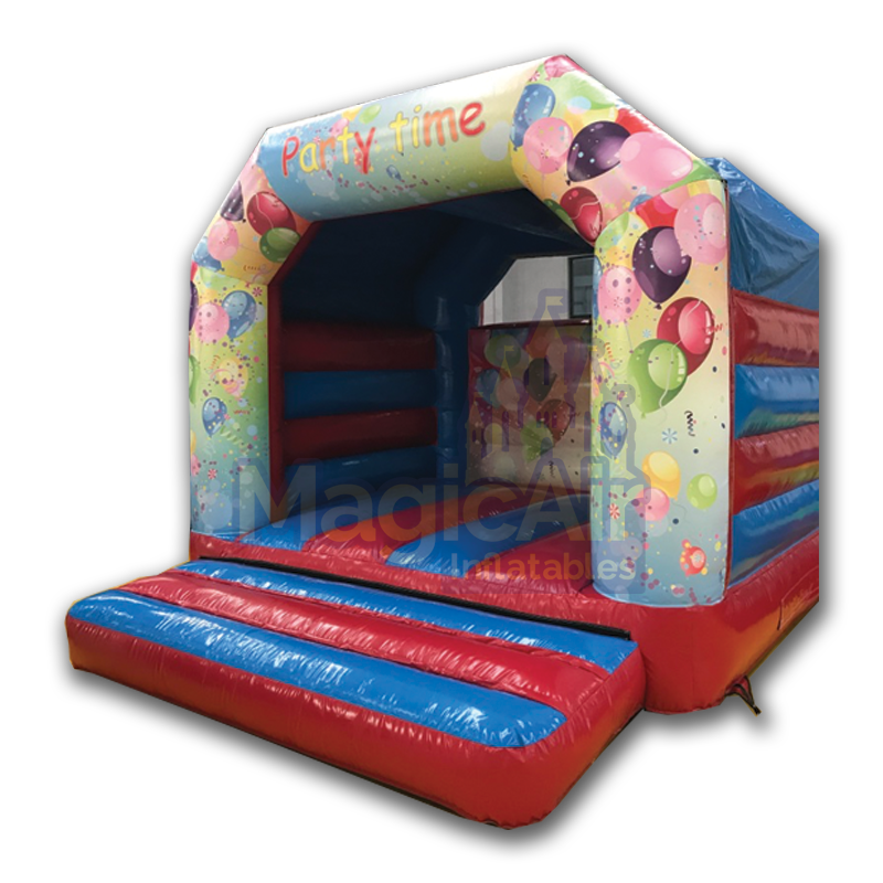 12x15 Bouncy Castle - Party Time Theme (Red/Blue)