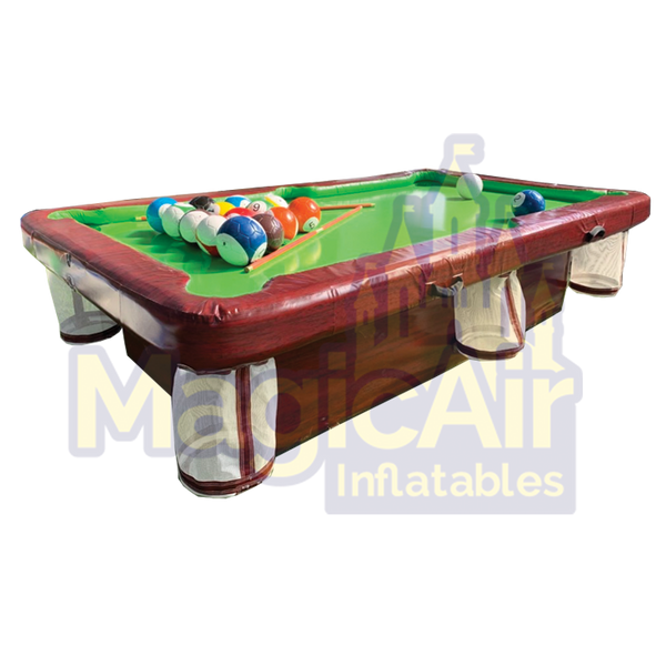 Inflatable Pool Table - Brown & Green (Sealed Air)