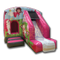 Princess Combi Bouncy Castle (High Roof, White Slide Sheet, Pink & Grey)