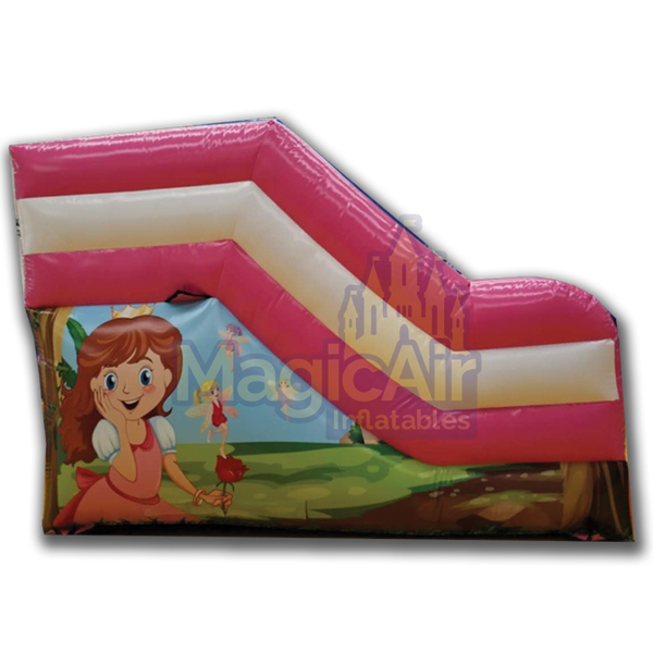 Toddler Slide - Princess Theme - Pink & White