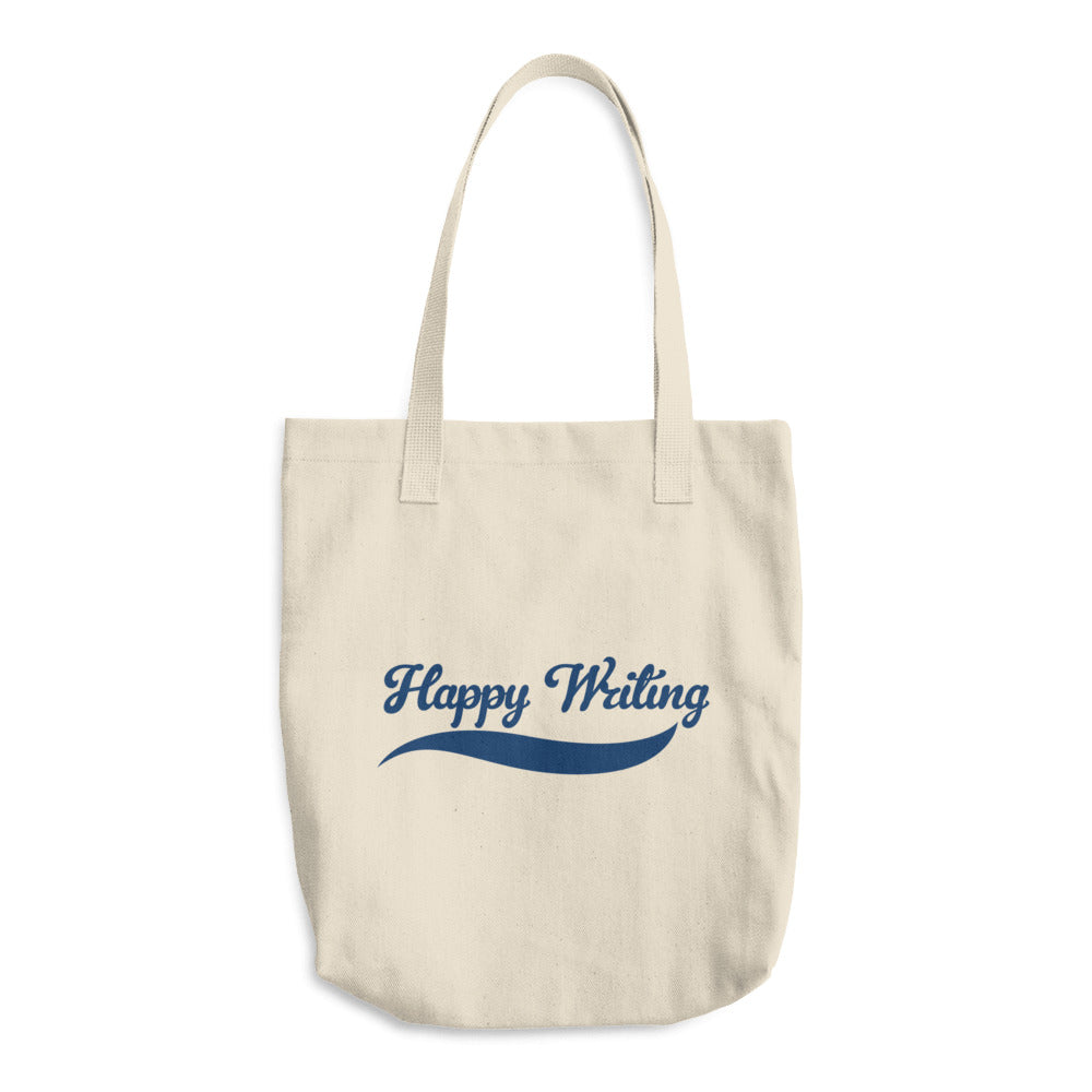 Happy Writing Cotton Tote Bag