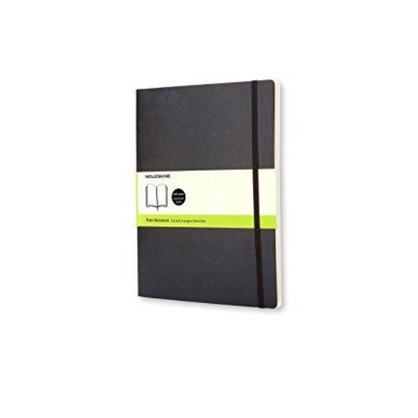 Moleskine Soft Extra Large Plain Notebook -XL 19x25